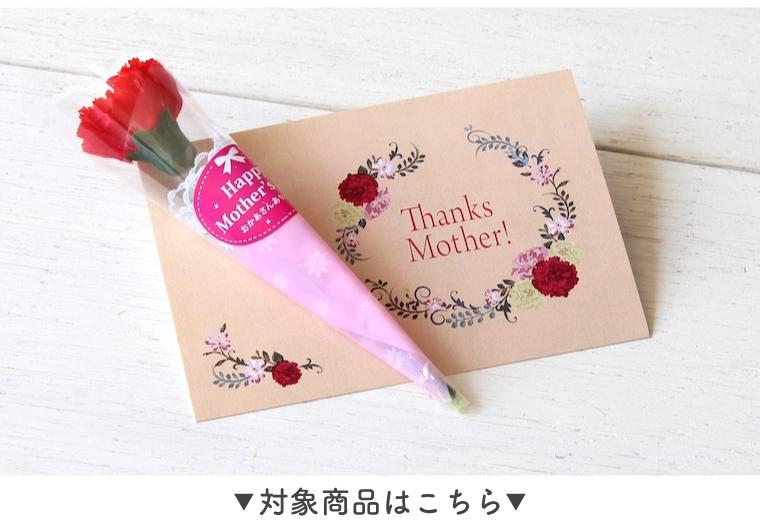 ミニカーネーション(造花)とオリジナルメッセージカード